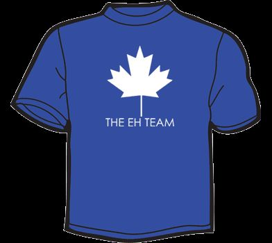 THE EH TEAM T Shirt WOMEN funny vtg 80s canada canadian