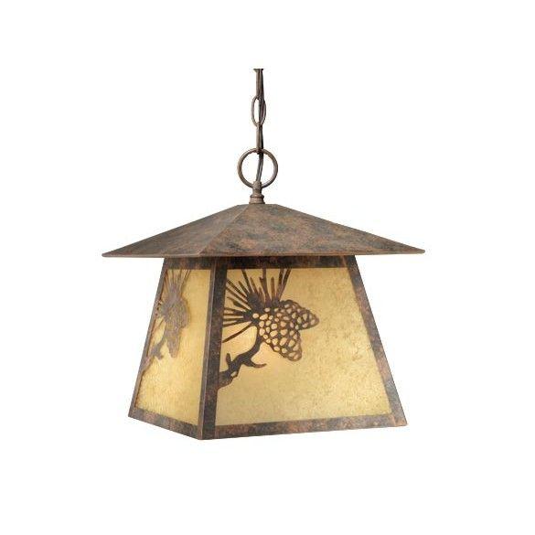 Pine Cone Outdoor Pendant Lighting Fixture, Old World Bronze