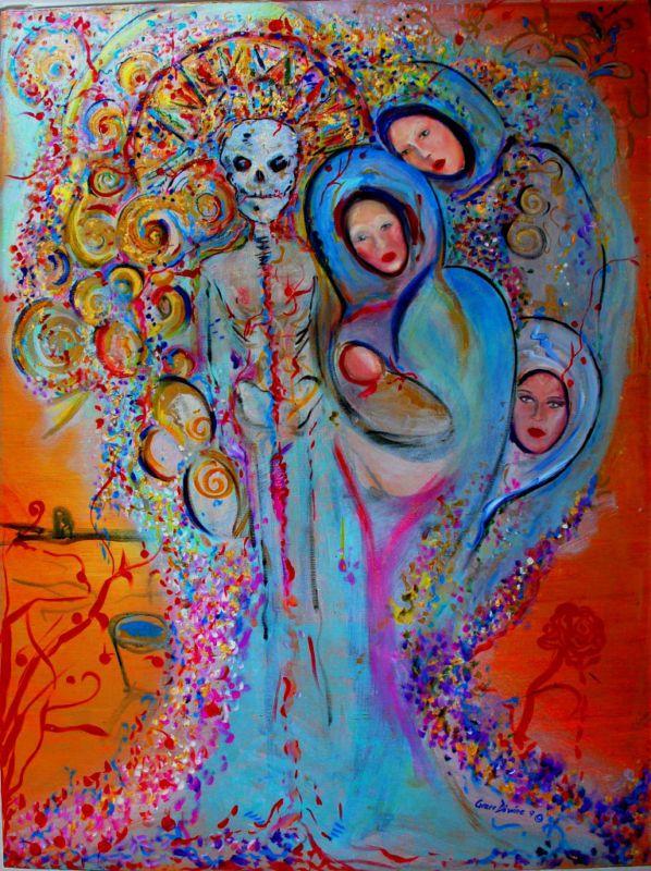 Contemporary Modern Skull Day of Dead Dia de los muertos saints usa