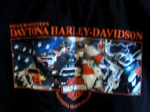 DAVIDSON Black Sleeveless T Shirt Tee Daytona Beach Florida