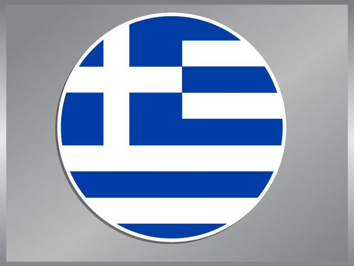 Greek Flag vinyl decal Greece Car Bumper Sticker