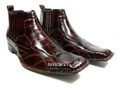 Mens D Aldo Brown Ankle High Boots Styled In Italy Leather Lined