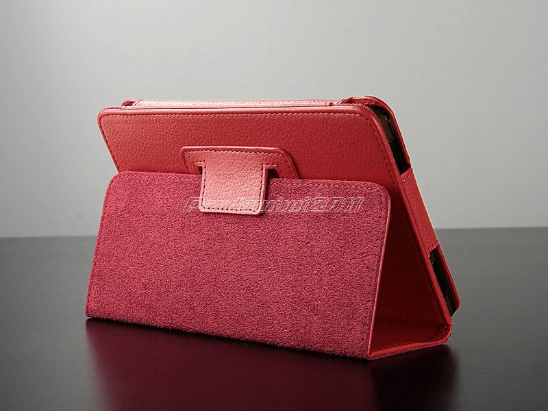 For Kindle Fire PU Leather Case Cover Stand/Car Charger/USB/St​ylus