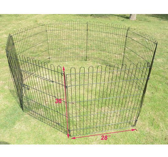 Pet Dog Cat Exercise Pen Playpen Fence Yard Kennel Portable