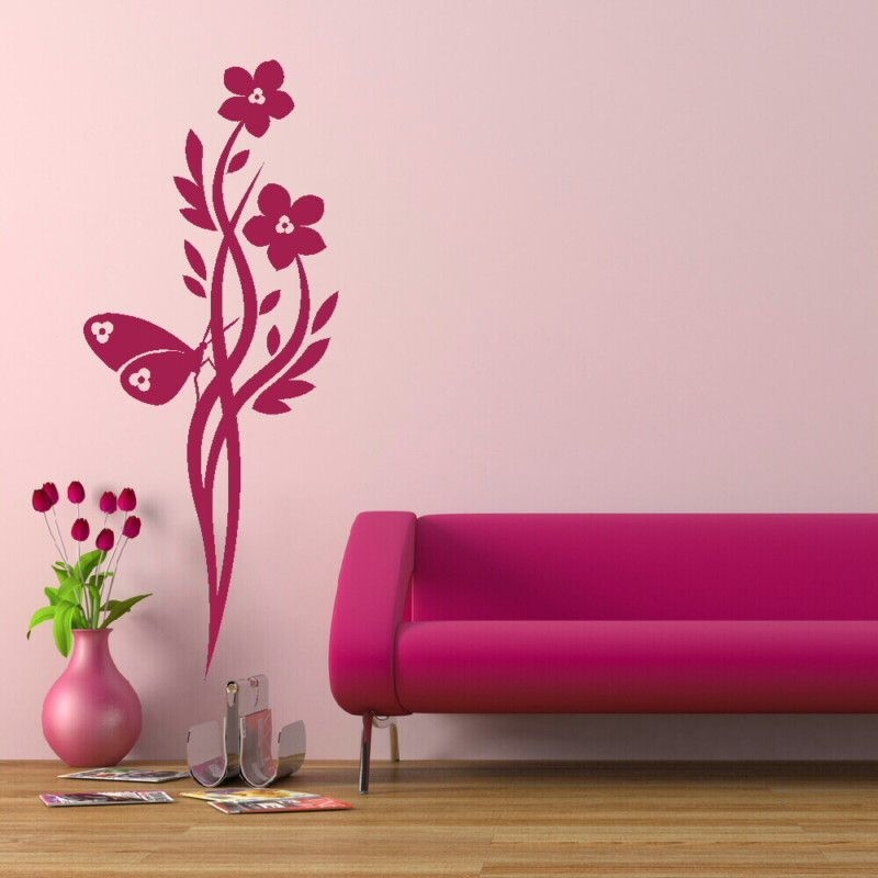CHINESE FLOWER TREE WALL ART DECAL STICKER TRANSFER giant stencil